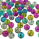 100 to 400 Mixed Colours Oily Drizzle Glass Drawbench Beads - Choose 4mm 6mm 8mm