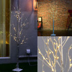 1.2M 48LED Silver Birch Twig Tree Warm White Light White Branches US STOCK