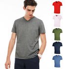 Lacoste Mens 2018 SS V-Neck T Shirt TH6710 Short Sleeve Pima Cotton Tee
