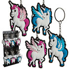 Keychain unicorn pendant made of Rubber Pegasus pink blue color selection