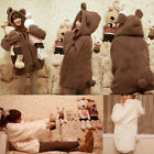 Ladies Winter Cute Fluffy  Ear Hoodie Hooded Jacket Warm Plush Outwear Coat