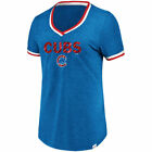 Majestic Chicago Cubs Women's Royal Driven By Results V-Neck T-Shirt