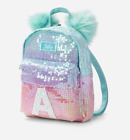 Justice Girls Ombre Sequin Initial Mini Backpack NWT