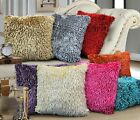 """Shaggy Chenille Cushion Covers, 8 Fantastic Colours 18"""" (43cm)/Polyester"""