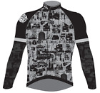 Men's San Vicente CYCLING LONG SLEEVE JERSEY -  in grey, Made in Italy by GSG