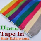 10colors 20inch Straight 100% Remy PU Tape in Human Hair Extensions