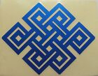 Buddhist Tibetan Endless Knot w/Clear Background 9.2 x 7.2 cm Various Colours