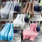1PC Soft Thick Line Knitted Hand Weaving Photography Props Crochet Knit Blanket