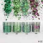 18 Colors DIY Nail Art Glitter Powder Dust For UV GEL Acrylic Powder Decor Tips