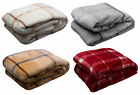 Velosso Super Soft Fleece Blanket Cosy Warm Bed Sofa Checked Throw Over 51 x 71