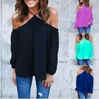 Hot 2018 Women Off The Shoulder Casual Loose Long Sleeve T-Shirt Tops Blouse TY