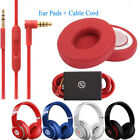 beats black cord - Replacement Ear Pads Cushion+ Audio Cable Cord  For Beats by Dr Dre Solo 2 Wired