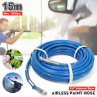 5000PSI 1 4 Airless Paint Spray Hose Tube Sprayer Gun Flexible Fiber 10 13 15M