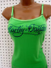 satin camisole tops - nwt HARLEY DAVIDSON *Beauty* Satin Adj. Strap Cami Lime Tank Top Shirt
