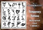 SHADOWHUNTER RUNES ex large temporary tattoos waterproof last 1 WEEK+