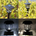 2 ×Solar LED Waterproof Light Sensor Post Lawn Lamp Outdoor Garden Decor Lights