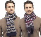 Tom Franks Mens Brushed Acrylic Fairisle Scarf