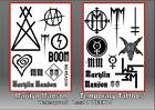 MARYLIN MANSON temporary tattoos SET OF 10 20 waterproof last 1 WEEK+