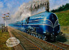 THE CORONATION SCOT AT SPEED STEAM TRAIN SCENE METAL SIGN: SIZES TO CHOOSE FROM
