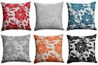"""Peony Flower Cushion Cover Luxury Floral Chenille Cushion Covers 22"""" x 22"""""""