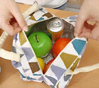 Travel Picnic Lunch Portable Thermal Tote Insulated Cooler Linen Bag Waterproof