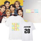 KPOP GOT7 T-Shirt Eyes On You Tshirt JACKSON Letter Tee Casual Cotton Tops