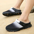 Summer Men's Sports Sandals Slip On Mesh Casual Slippers Beach Shoes Breathable