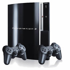 Sony Playstation 3 Black Console W/ 1 Or 2 Controllers Refurbished