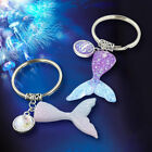 Girls Charm Mermaid Tail Keyring Pretty Fish Scale Dangle Key Chain Female Gift