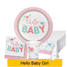 Hello Baby Girl - Baby Shower Range Tableware Balloons Decorations - CP 1C