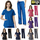 Внешний вид - WonderWink Flex [XXS-3XL] Women's Fashion Medical Nurse Scrub Zip Top Pants Set