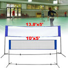 Badminton Volleyball Tennis Net Adjustable Height Poles Stand Set Indoor Outdoor