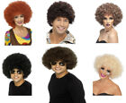 60's 70's Afro Wig Mens Ladies Curly Wig All Colours