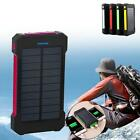 Waterproof 100000mAh Portable Solar Charger Dual USB Battery Power Bank Phone GR