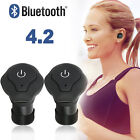 Mini Wireless Bluetooth Earbuds w/ Mic Truly Bass Twins Stereo In-Ear Earphones