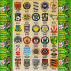 MOBIL Oil 1983 Silk football (Soccer) badges - VARIOUS