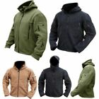 Tactical Men Full Zip Fleece Jacket Army Military Hoodie Combat Coat Hunting Hot