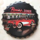 Vintage Retro Wine Cover Metal Tin Sign Home Plate Wall Tavern Decor Bar Plaque