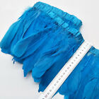Wholesale 2 yards beautiful natural goose down feather with feathers 15-20 cm