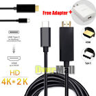 Type C USB-C to HDMI Cable 6FT USB 3.1 (Thunderbolt 3 Compatible) For Tablet