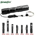 Waterproof 6000 LM Pocket LED Flashlight 3 Modes Zoomable Torch Mini Penlight GA