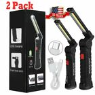 Внешний вид - Rechargeable COB LED Slim Work Light Lamp Flashlight Inspect Folding Torch USA