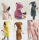 Kids Toddler Coat Casual Top Hooded Cape Outwear Girls Cotton&Jute Jacket