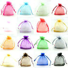 500 Plain Organza Drawstring Gift Jewelry Bags Pouches Wedding Xmas Wholesale