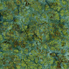 Island Batik Quilt Fabric Mountain's Majesty Green Blue Style 121719559