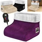 PURPLE ELECTRIC HEATED FOOT MASSAGER COMFORT WARMER FLEECE SUEDE COMFORT USED