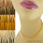 2 mm Yellow Leather Cord Necklace or Choker Custom Length ur colors Handmade USA