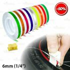 """6mm 1/4"""" 0.25"""" WHEEL RIM Solid Line STYLING Tape PIN STRIPE Decal Vinyl Stickers"""