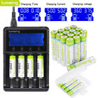 Lumsing 1.2V AA AAA NI-MH 1100/2500/2850mAh Rechargeable Batteries & Charger US
