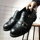 2018 Summer Brogues Mens Bee Leather Carving Wedding Party Buckle Formal Shoes